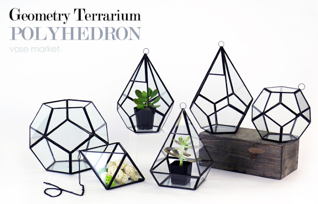 Hanging Geometric Terrarium Set