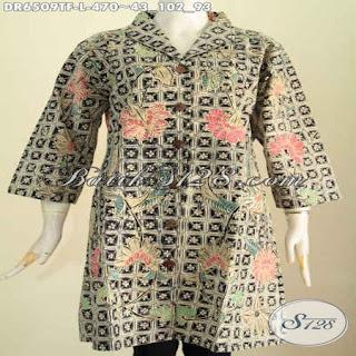 blouse batik muslim modern