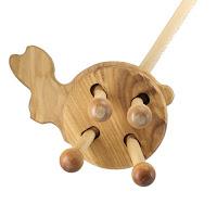 PW01, Push along Rabbit , Lotes Wooden Toys