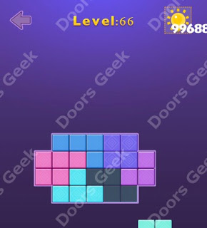 Cheats, Solutions, Walkthrough for Move Blocks Easy Level 66