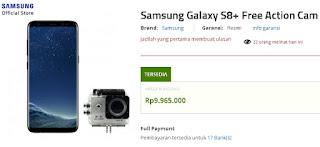 Harga Samsung Galaxy S8 Plus di Indonesia: Rp 9.965.000 berhadiah Bcare B-Cam X2 Action Cam di Erafone (update Mei 2018)