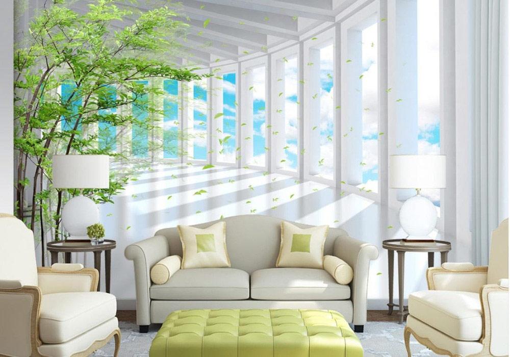 Modern 3d wallpaper murals for living room 2019