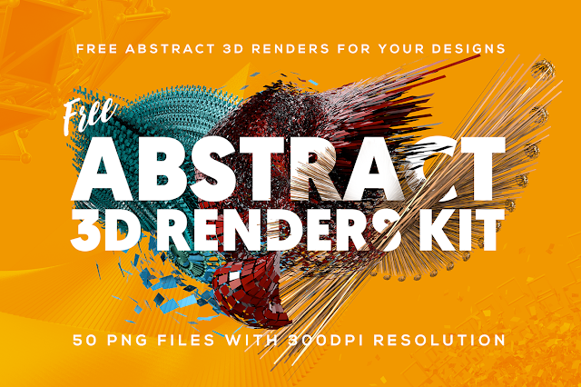 Download 50 free Abstract 3D Shapes for Photoshop