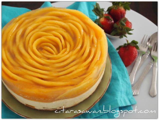 Chilled Mango Cheese Cake Kek Keju Mangga Dingin