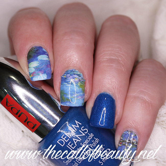 Monet Water Lilies Nail Art