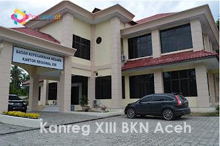 Alamat Kanreg XIII BKN Aceh