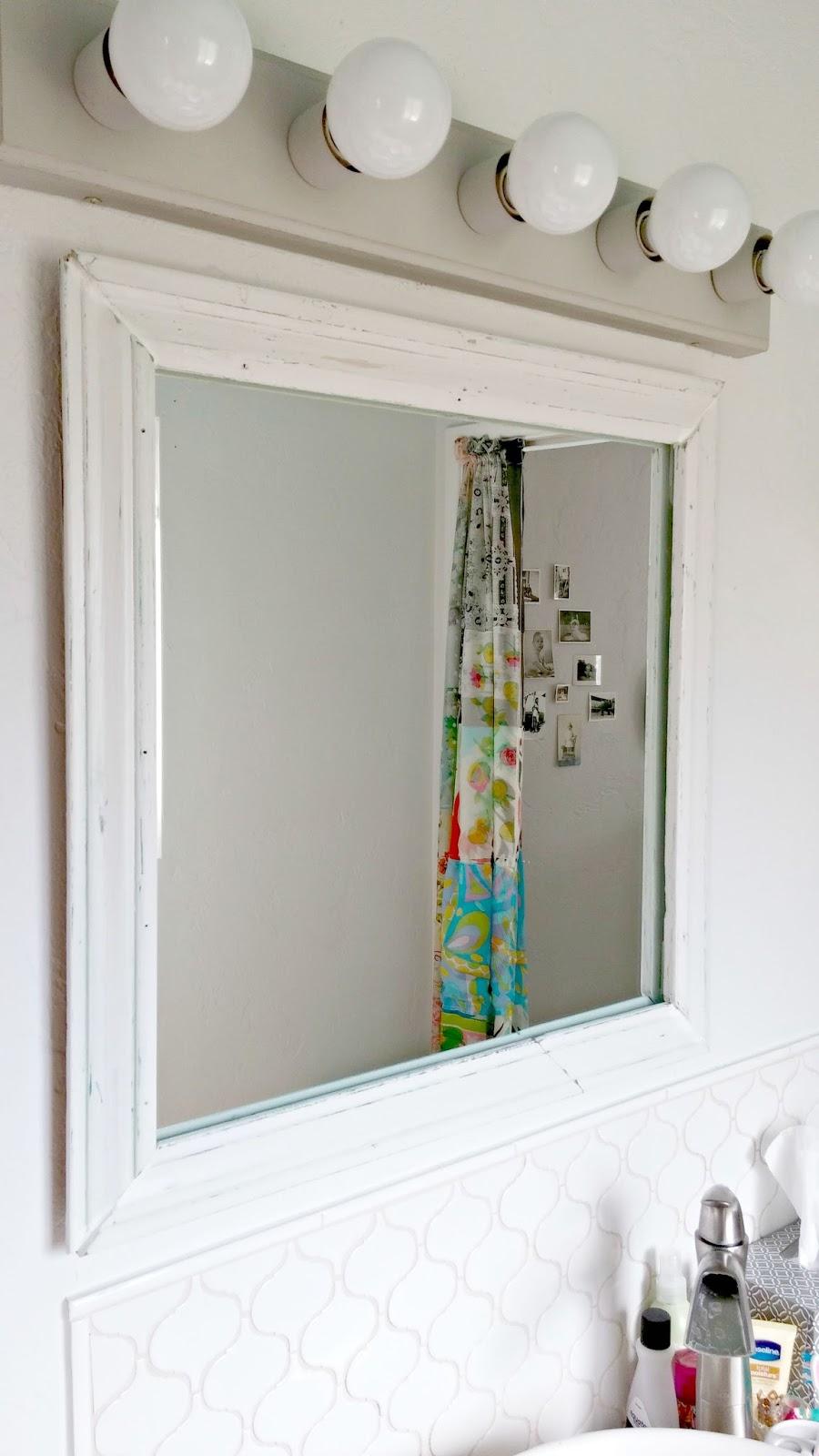 Half Bath Redo Vanity Tile And A Mirror Little