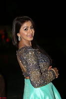 Nikki Galrani in Green Skirt  Top at Marakathamani music launch ~  Exclusive (110).JPG