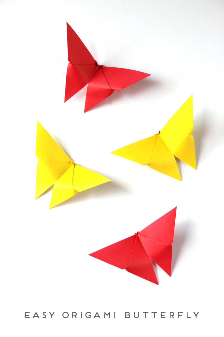 easy origami butterfly � craftbnb