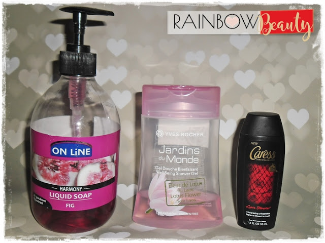 Caress Fine Fragrance Body Wash Love Forever Yves Rocher Korana Joanna Fa  FORTE SWEDEN On Line Harmony Figowe mydło w płynie Fig Liquid Soap Lotus Flower from Laos YVES ROCHER Jardins du Monde Żel pod prysznic Kwiat Lotosu z Laosu