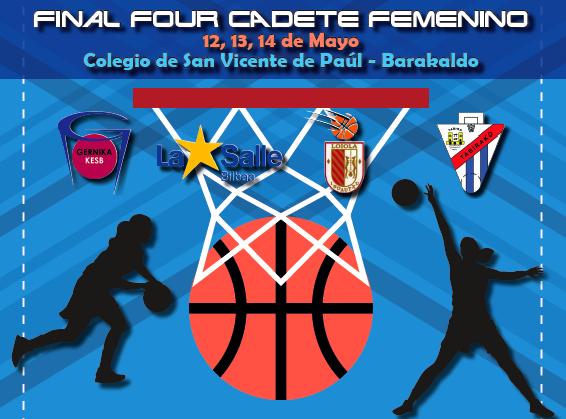Baloncesto | Paúles acoge la final vizcaína cadete femenina sin equipos barakaldeses
