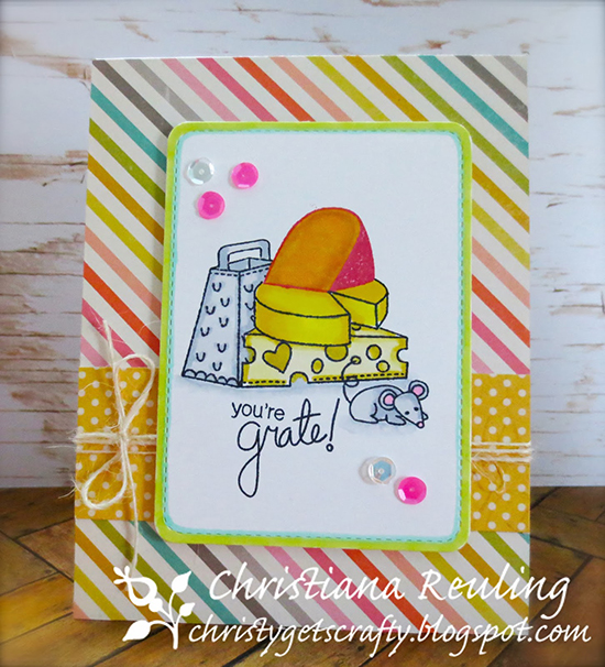 You're Grate Cheese card by Christy Reuling | Just Say Cheese stamp set by Newton's Nook Designs #newtonsnook