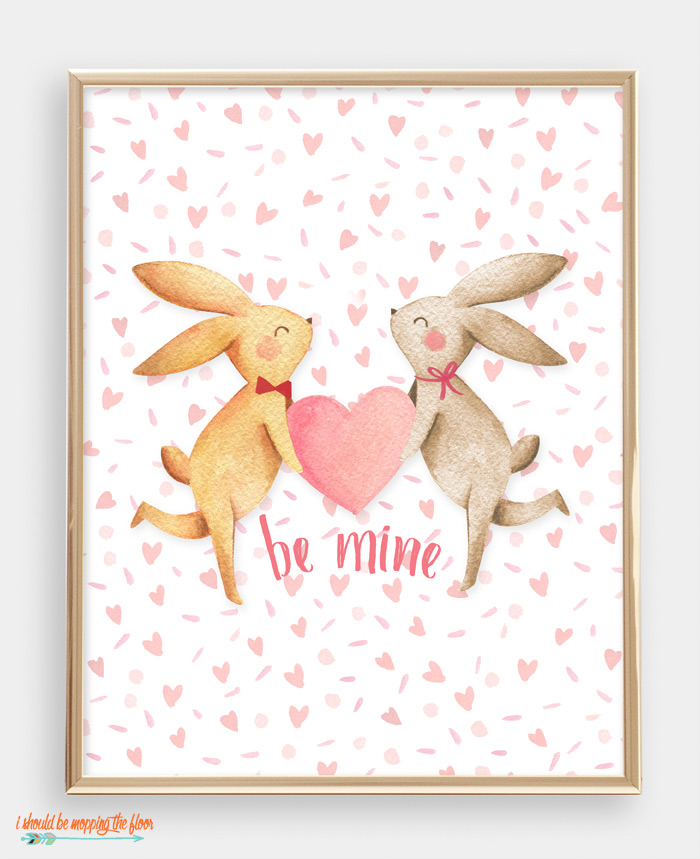 Be Mine Printable