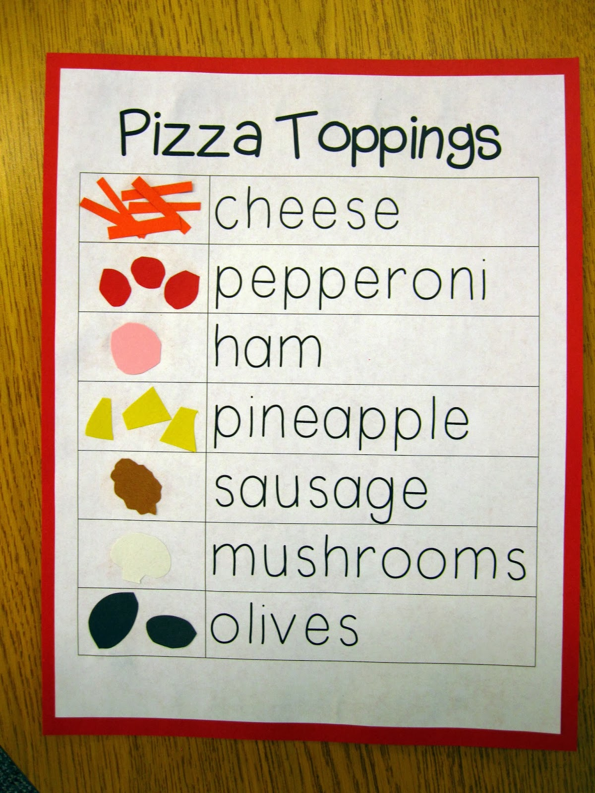 Ship Shape First Grade Pizza Fractions