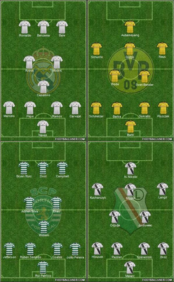 Cl Group F Real Madrid Dortmund Sporting Legia Uefa European Football Forum