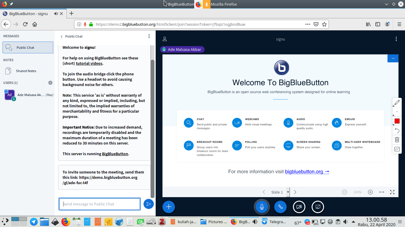 Stay at Home Step By Step to use BigBlueButton School ...