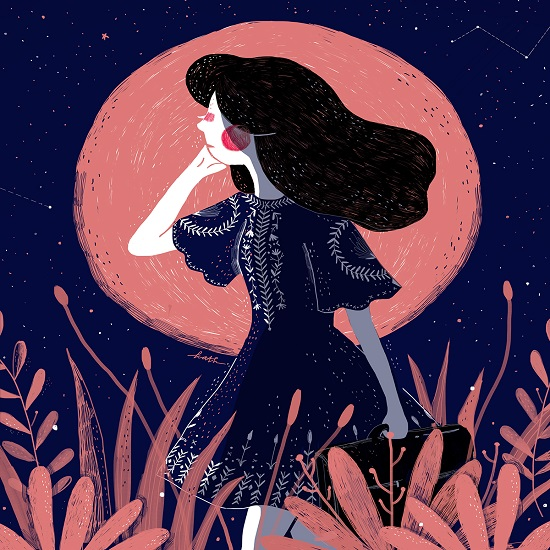 """The moon girl"" por Kathrin Honesta 