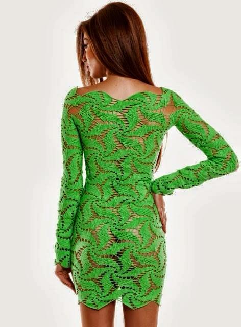wzor sukienki szydelkiem