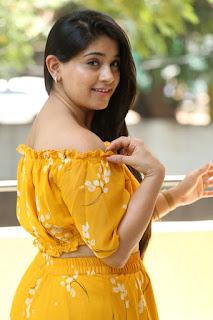 Chandni Bhagwanani Pictures in Yellow Dress
