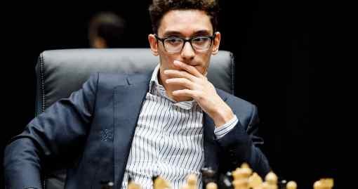 Avec les Noirs, l'Américain Fabiano Caruana a torturé le Norvégien Magnus Carlsen dans la partie 6 du championnat du monde d'échecs - Photo © site officiel