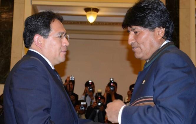 En octubre de 2012 Morales posesionaba al primer fiscal dentro de la estructura del Estado Plurinacional  / FISCALÍA GENERAL