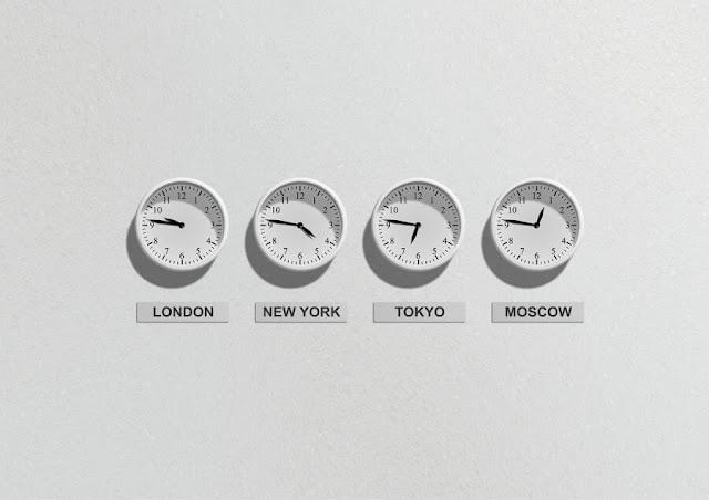 czas w różnych miejscach