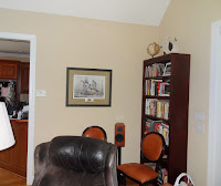before picture of corner with small artwork