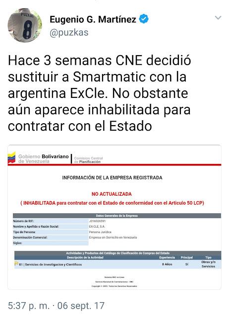 CNE seleccionó empresa que sustituirá a Smartmatic, pero según RNC está inhabilitada