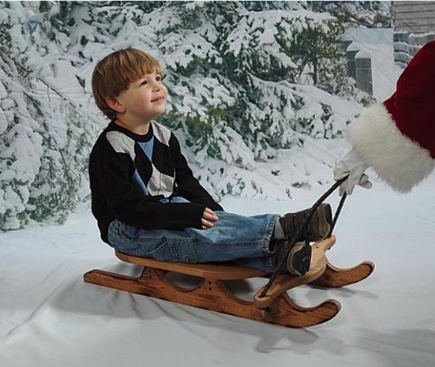 santa and toddler boy
