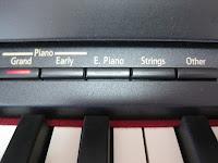 Roland HP507 digital piano control panel