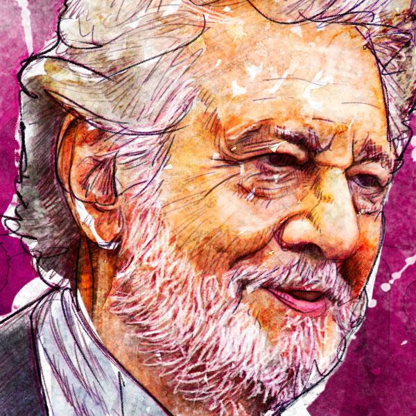 Retrato de Placido Domingo por Hache Holguín