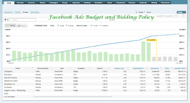 Facebook Budget and Bidding Policy