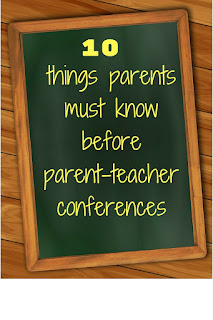 This blog post lists the top 10 things your child's teacher wishes you knew before coming to parent/teacher conferences.  Click here to read these 10 important tips from a teacher who has sat through many, many conferences!