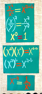 exponent rules anchor charts on an Algebra word wall