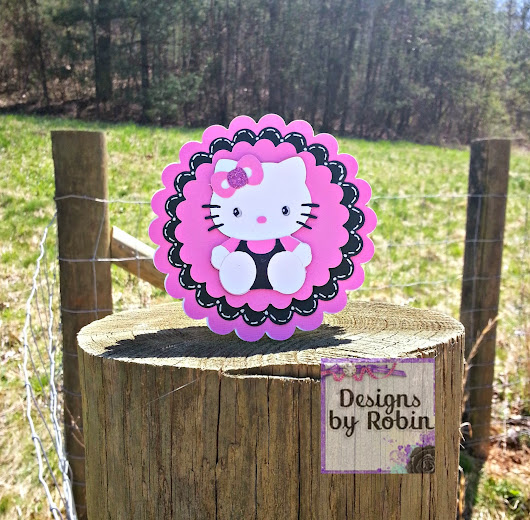 Cut One Designs by Robin: Hello Kitty Card