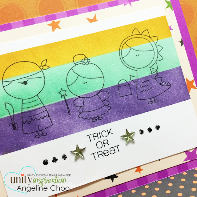 ScrappyScrappy: Trick or Treat #scrappyscrappy #unitystampco #stamp #card #halloween #trickortreat #quicktipvideo #distressink