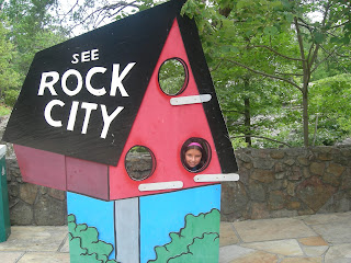 Having fun at Rock City Gardens in Lookout Mountain georgia