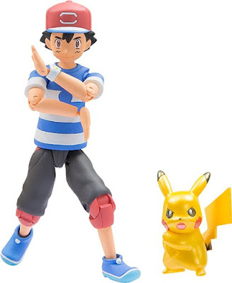 Z-move posing Ash Action figure & pearly Pikachu Takara Tomy Monster Collection MONCOLLE series