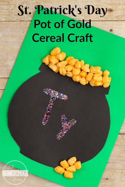 St. Patrick's Day Pot of Gold Cereal Craft
