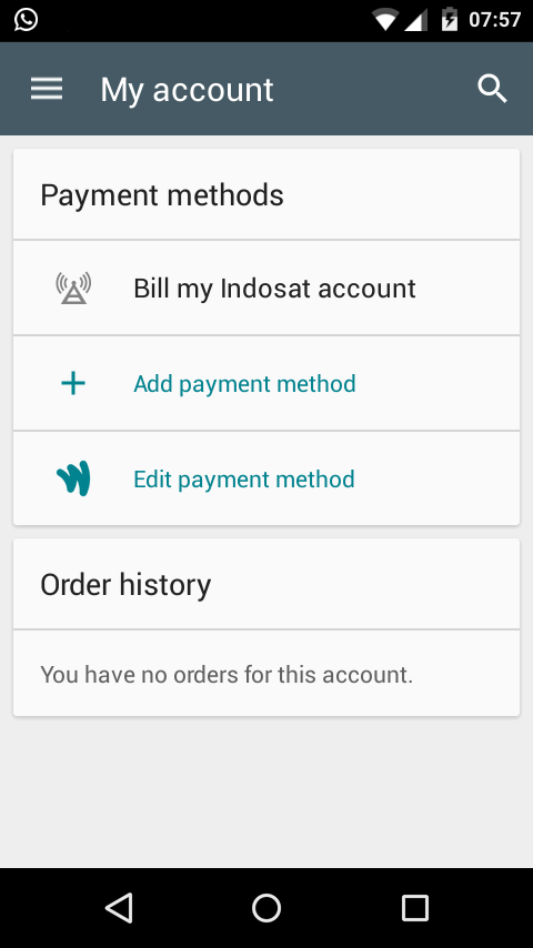 Bill my Indosat account