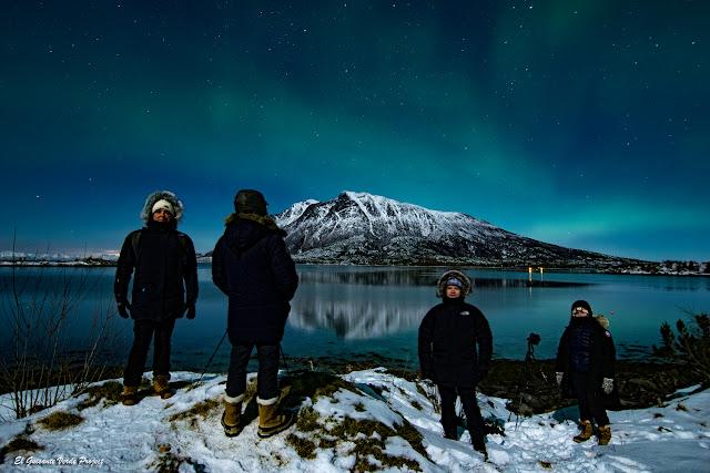 Aurora Boreal en Engeloya - Noruega, por El Guisante Verde Project