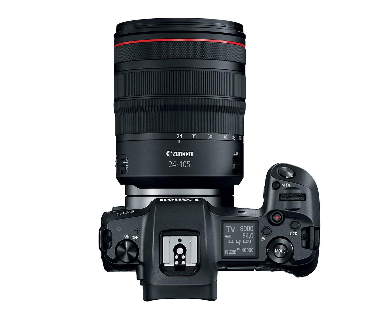Фотоаппарат Canon EOS R, вид сверху