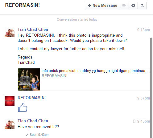 I've private message REFORMASIN to remove my photo but they just give *thumbs up* as reply...