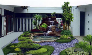 Desain Taman Rumah Minimalis Modern Paling  Populer
