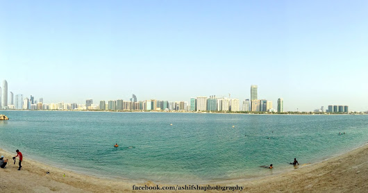 Panoramic View Of Abu Dhabi Corniche.