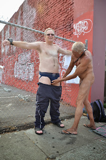 jacking off in the street