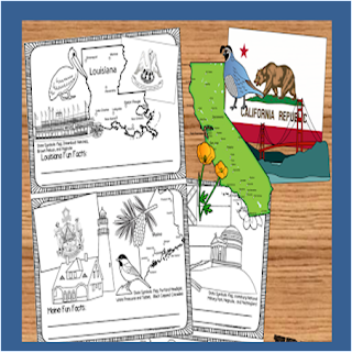 united states coloring pages to make fact book for kids