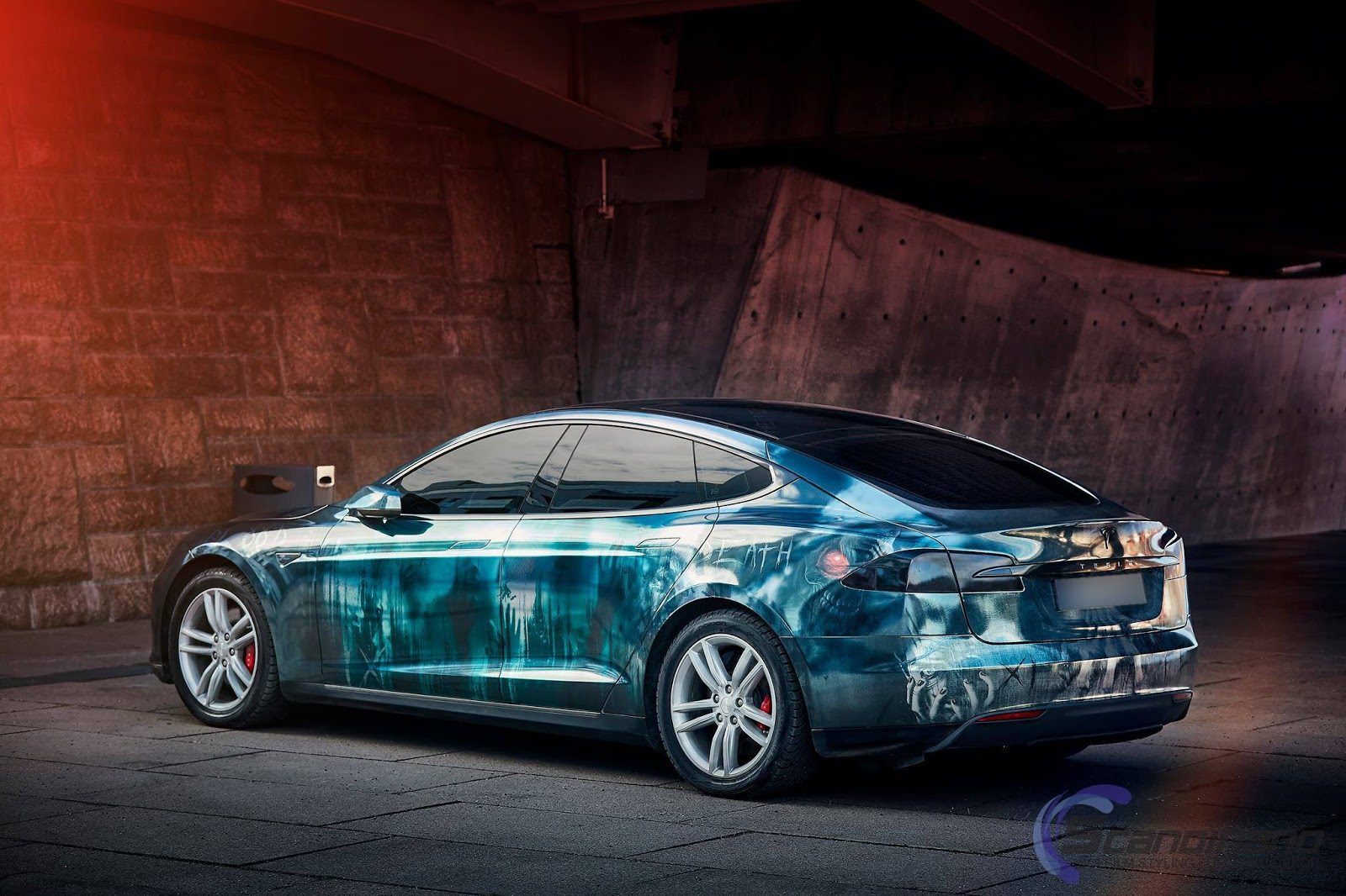 tuning tesla model s im zombie style myauto24 das. Black Bedroom Furniture Sets. Home Design Ideas
