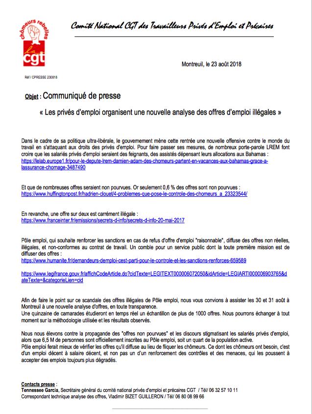 Cgt Chomeurs Rebelles Du Morbihan Un Emploi Decent Un Revenu