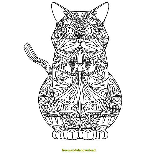√ malvorlagen katzen mandala  malvorlagen von katzen
